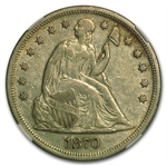 1870 Liberty Seated Dollar - Extra Fine