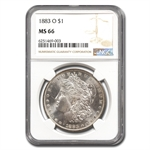 1883-O Morgan Dollar - MS-66 NGC