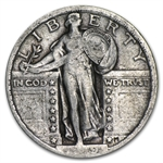 1919-P Very Fine - Partial Date - Standing Liberty Quarter