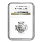 2002-W 1/4 oz Proof Platinum American Eagle PF-70 NGC UCAM