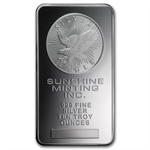 10 oz Sunshine Silver Bar .999 Fine