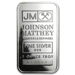 1 oz Johnson Matthey Silver Bar (Secondary Market) .999 Fine