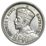 New Zealand 1933-1936 Silver 3 Pence George V Avg Circ