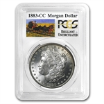 1883-CC Brilliant Uncirculated PCGS Stage Coach Silver Dollars