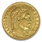 France 1854-1868 10 Franc Gold XF or Better