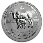 2009 1/2 oz Silver Australian Year of the Ox Coin (Series II)