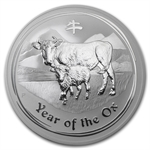 2009 10 oz Silver Australian Year of the Ox Coin (Series II)