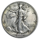 $10 Walking Liberty Halves - 90% Silver 20-Coin Roll (XF)