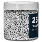 25 oz Bag Silver Grain of Silver Shot .999+ Fine