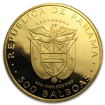 Panama 1975-77 500 Balboa Gold BU/Proof (AGW= 1.2067)