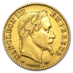 France 1854-1868 10 Francs Gold - Almost Uncirculated