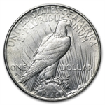 1935-S Peace Dollar - Almost Uncirculated