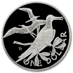 British Virgin Islands 1973-84 Silver Dollar Proof/Unc Birds