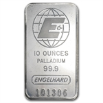 10 oz Engelhard Palladium Bar .999+ Fine (No Assay)