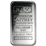 1 oz Johnson Matthey Palladium Bar (Logo Back, No Assay)