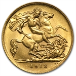 Great Britain 1/2 Sovereign Gold George V Brilliant Uncirculated