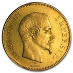 France 100 Franc Gold AU Napoleon III Random Dates