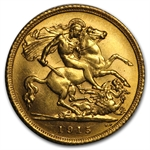 Australia Gold 1/2 Sovereign of George V (AU or Better)