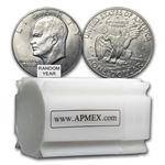 $20 Face Value Ike Dollar Rolls 20 coins - Grading XF-AU