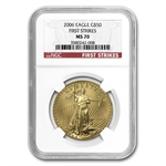 2006 1 oz Gold American Eagle MS-70 NGC (First Strike)