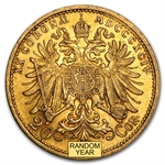 1892-1910 Gold Austrian 20 Corona (EF or Better!)
