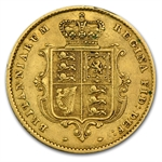 Great Britain 1855 Gold 1/2 Sovereign Victoria VF Details