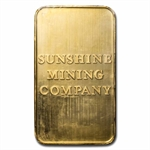 5 oz Golden Eagle Sunshine Mining Gold Bar .9999 Fine