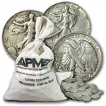90% Silver 1917-1929 Walking Liberty Halves - $100 Face-Value Bag