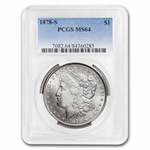 1878-S Morgan Dollar - MS-64 PCGS