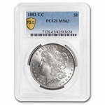 1881-CC Morgan Dollar - MS-63 PCGS