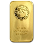 50 gram Gold Bar (Secondary Market) .999+ Fine