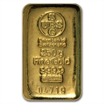 250 gram Union Bank of Switzerland UBS Gold Bar .9999 Fine