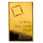 1/10 oz Gold Bar (Secondary Market) .999+ Fine