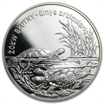 Poland 2002 20 Zlotych Silver Proof Turtles (ASW .841)
