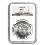 1884-O Morgan Dollar - MS-63 NGC