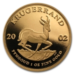 2002 1 oz Proof Gold South African Krugerrand w/Box