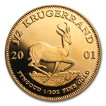 2001 1/2 oz Proof Gold South African Krugerrand