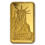 10 gram Statue of Liberty Credit Suisse Gold Bar .9999 Fine
