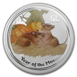 2008 Year of the Mouse 10 oz Silver Coin (SII) (Colorized)