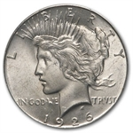 1926 Peace Dollar MS-64 PCGS VAM-2 Doubled Leaves Top-50