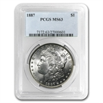1887 Morgan Dollar - MS-63 PCGS