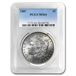 1887 Morgan Dollar - MS-64 PCGS