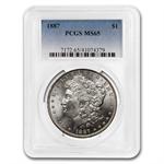 1887 Morgan Dollar - MS-65 PCGS