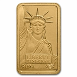 2 gram Statue of Liberty Credit Suisse Gold Bar (In Assay)