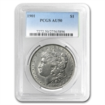 1901 Morgan Dollar Almost Uncirculated-50 PCGS