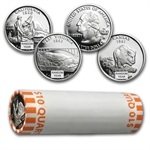 $10 Proof Statehood/ATB Quarters - 90% Silver 40-Coin Roll