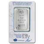 1 oz Pamp Suisse Platinum Bar (In Assay) .999+ Fine