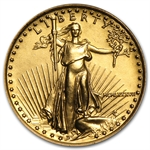 1987 MCMLXXXVII 1/4 oz Gold American Eagle Brilliant Uncirculated