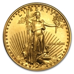 1989 MCMLXXXIX 1/2 oz Gold American Eagle Brilliant Uncirculated