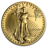 1990 MCMXC 1/2 oz Gold American Eagle Brilliant Uncirculated